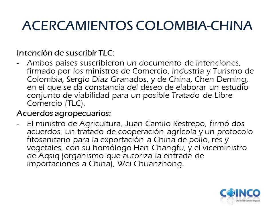 ACERCAMIENTOS COLOMBIA-CHINA