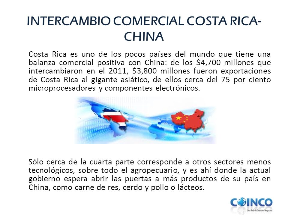 INTERCAMBIO COMERCIAL COSTA RICA-CHINA