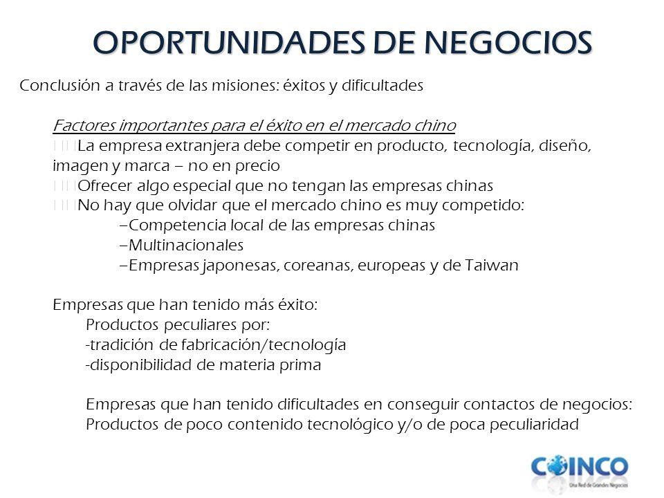 OPORTUNIDADES DE NEGOCIOS