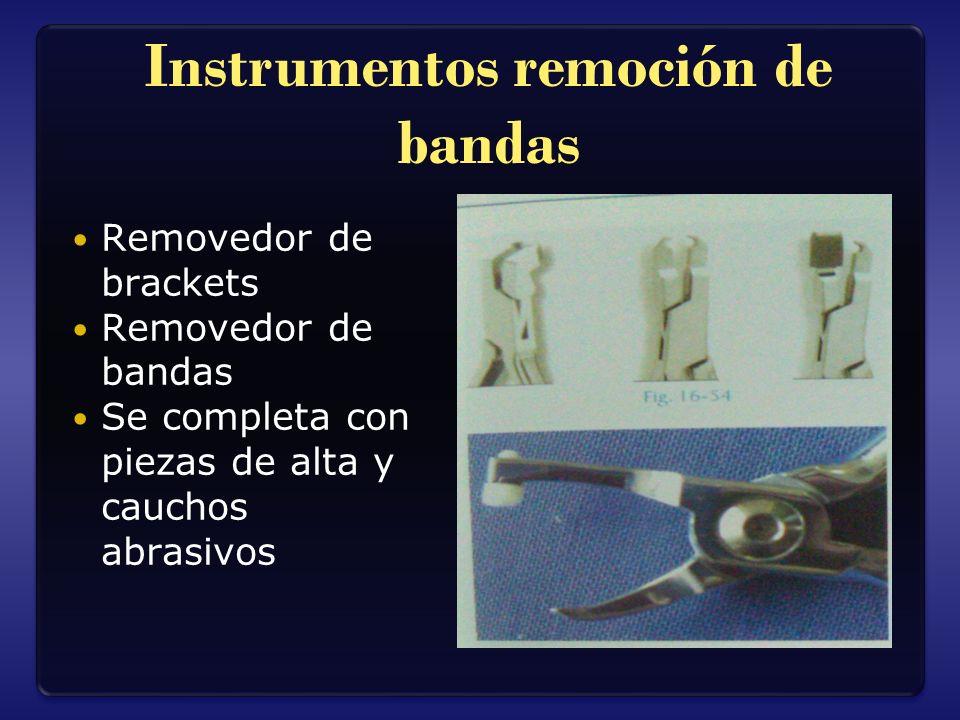 Instrumentos remoción de bandas