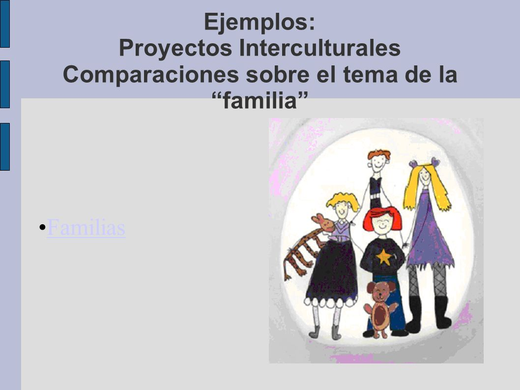 Ejemplos: Proyectos Interculturales Comparaciones sobre el tema de la familia