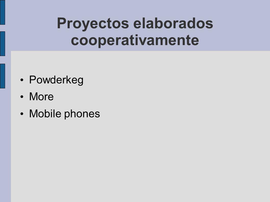 Proyectos elaborados cooperativamente