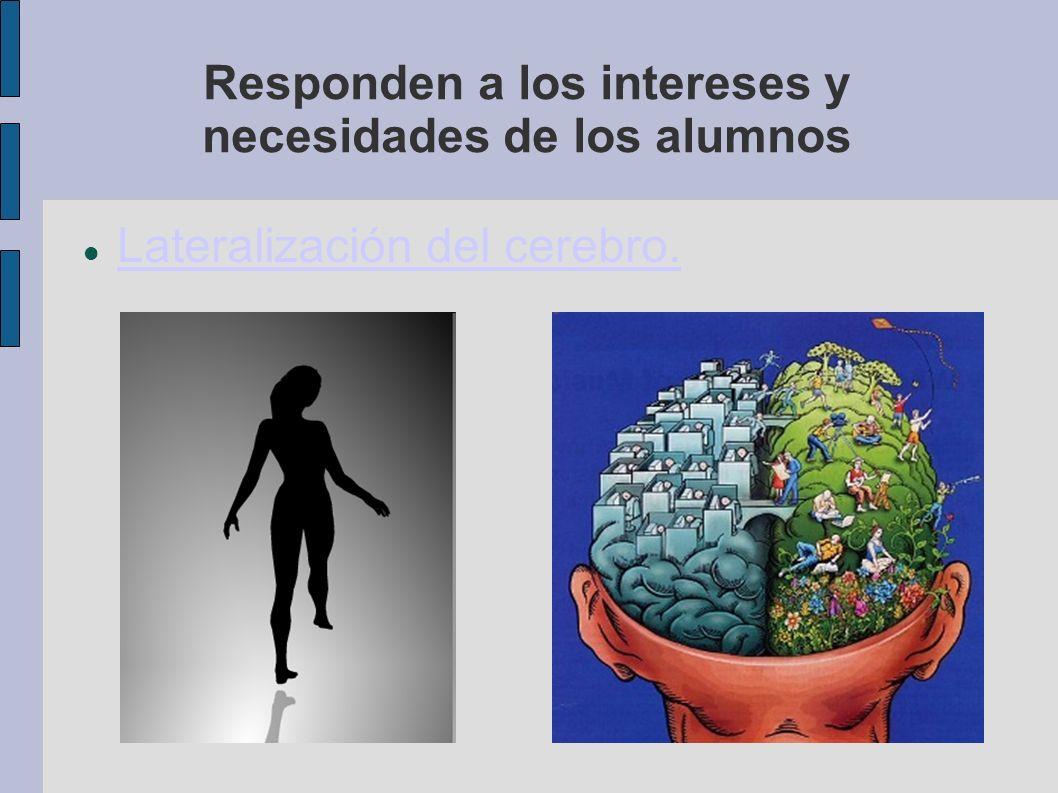 Responden a los intereses y necesidades de los alumnos