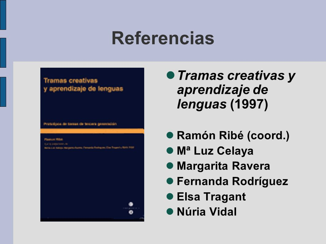 Referencias Tramas creativas y aprendizaje de lenguas (1997)