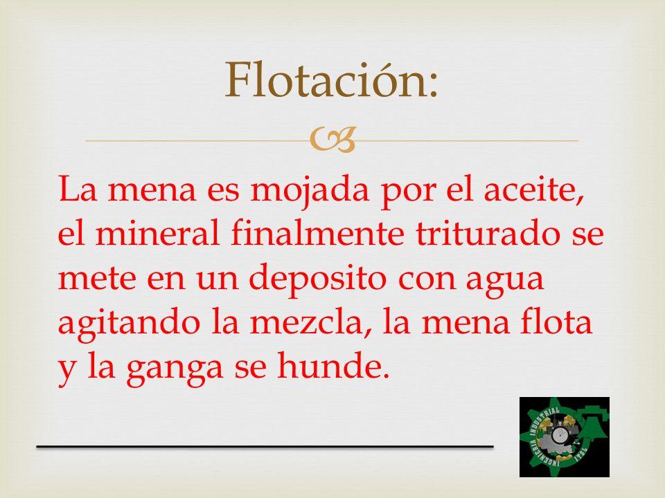 Flotación: