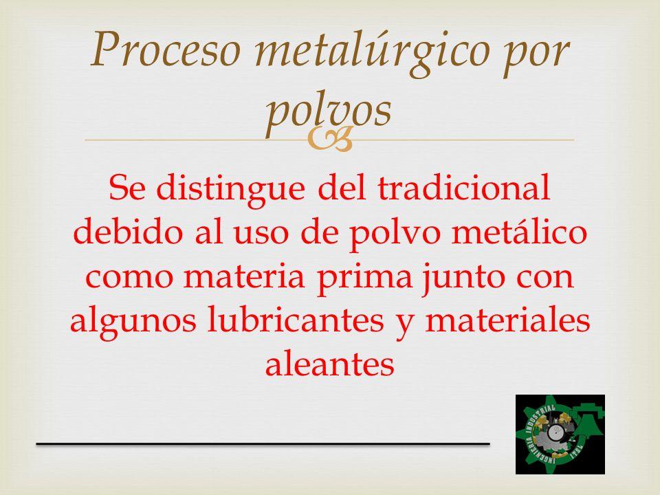 Proceso metalúrgico por polvos