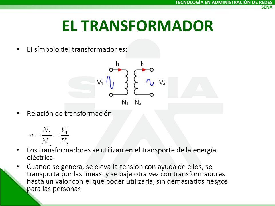 EL TRANSFORMADOR El símbolo del transformador es: