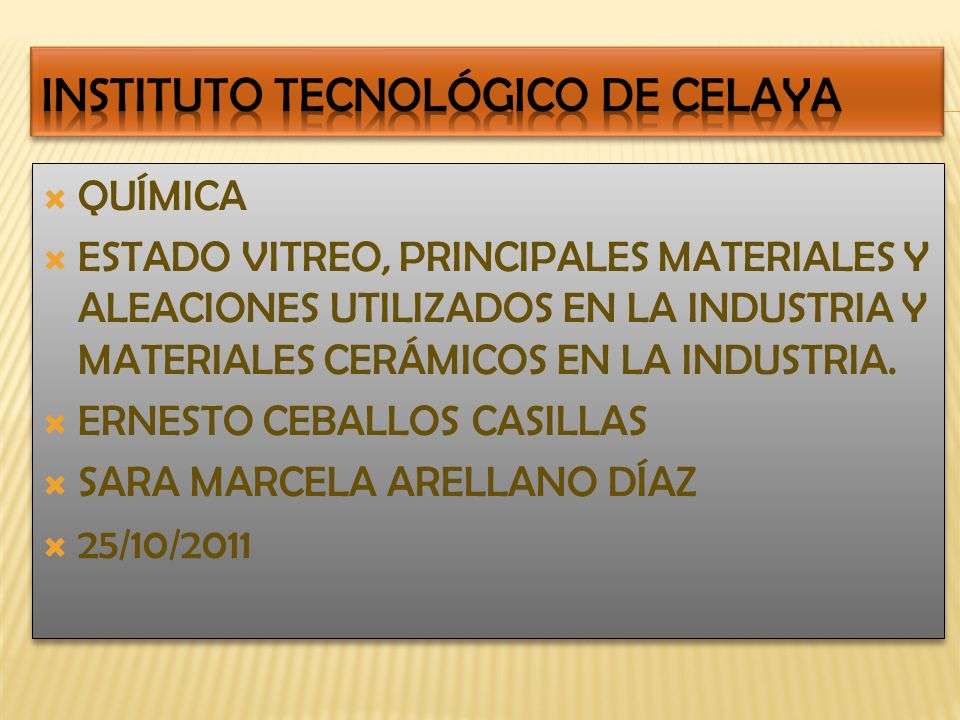 INSTITUTO TECNOLÓGICO DE CELAYA