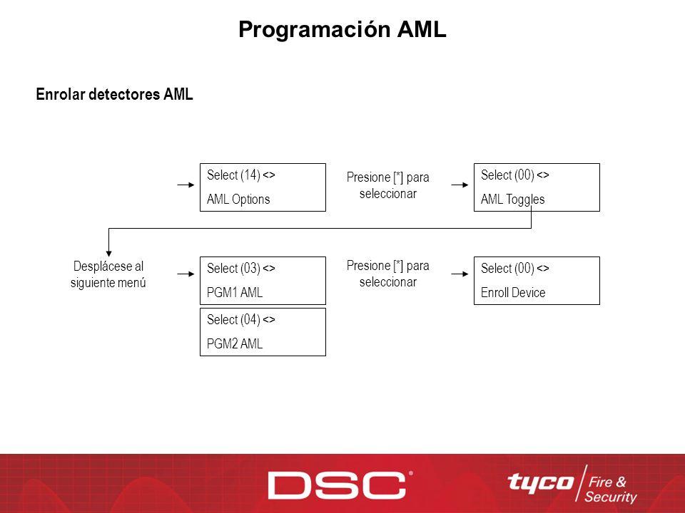 Programación AML Enrolar detectores AML Select (14) <>