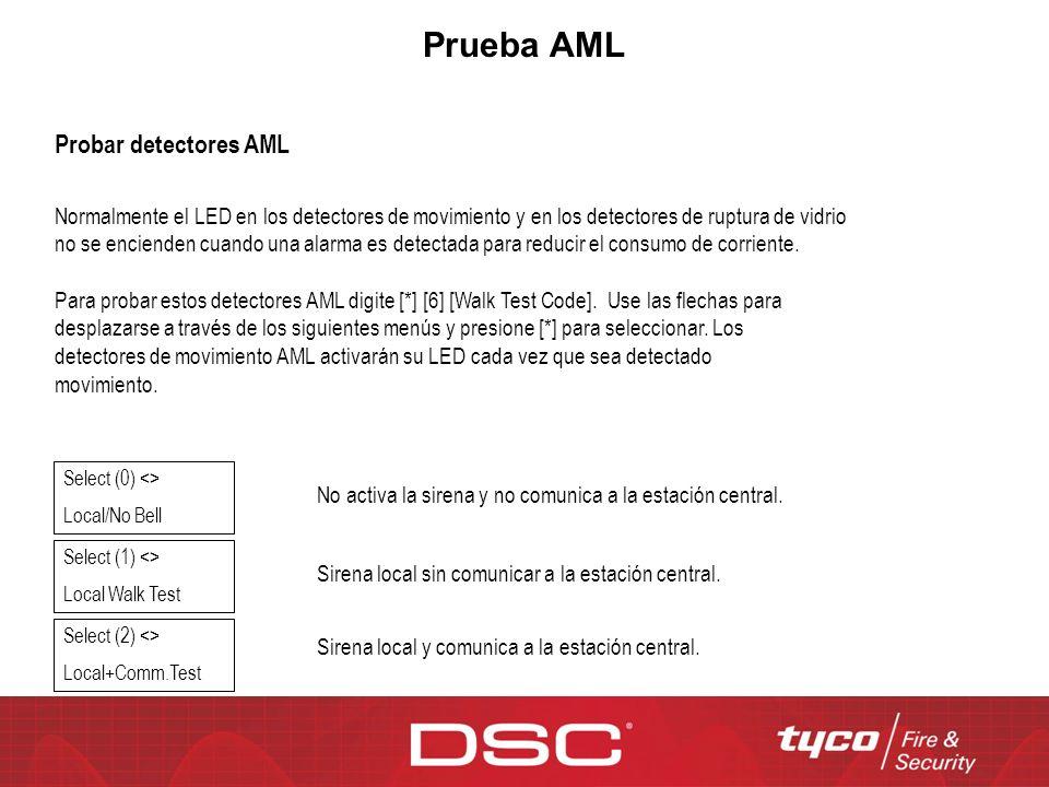 Prueba AML Probar detectores AML