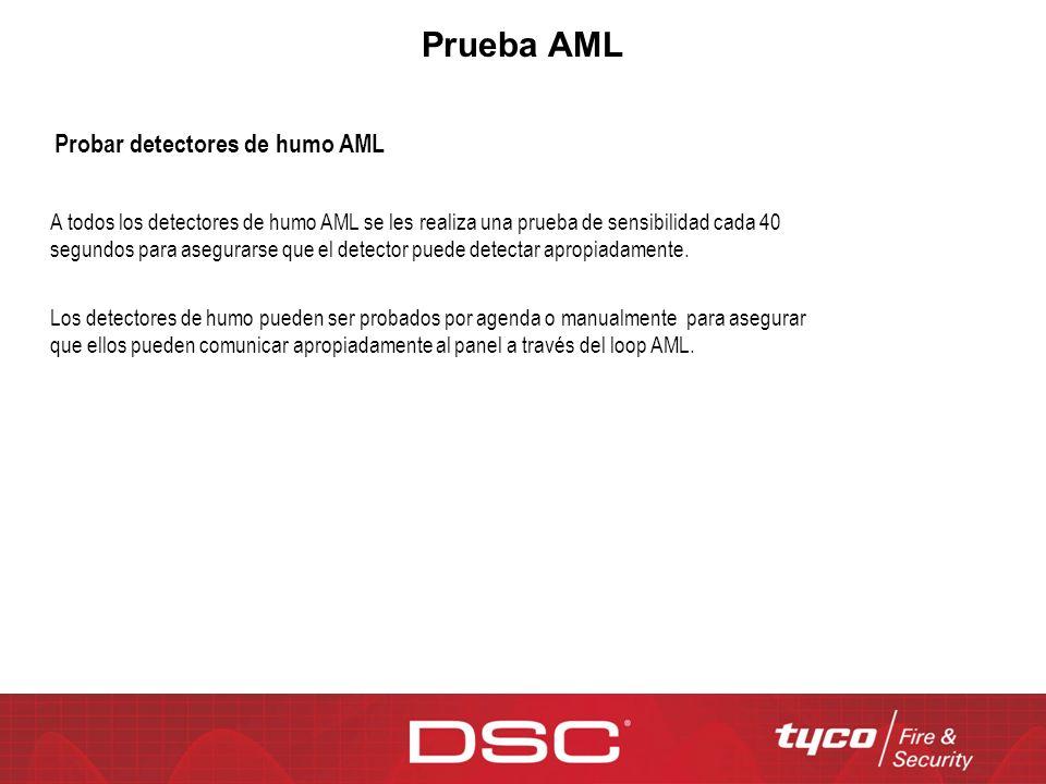 Prueba AML Probar detectores de humo AML