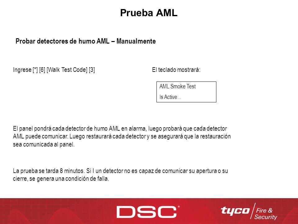 Prueba AML Probar detectores de humo AML – Manualmente