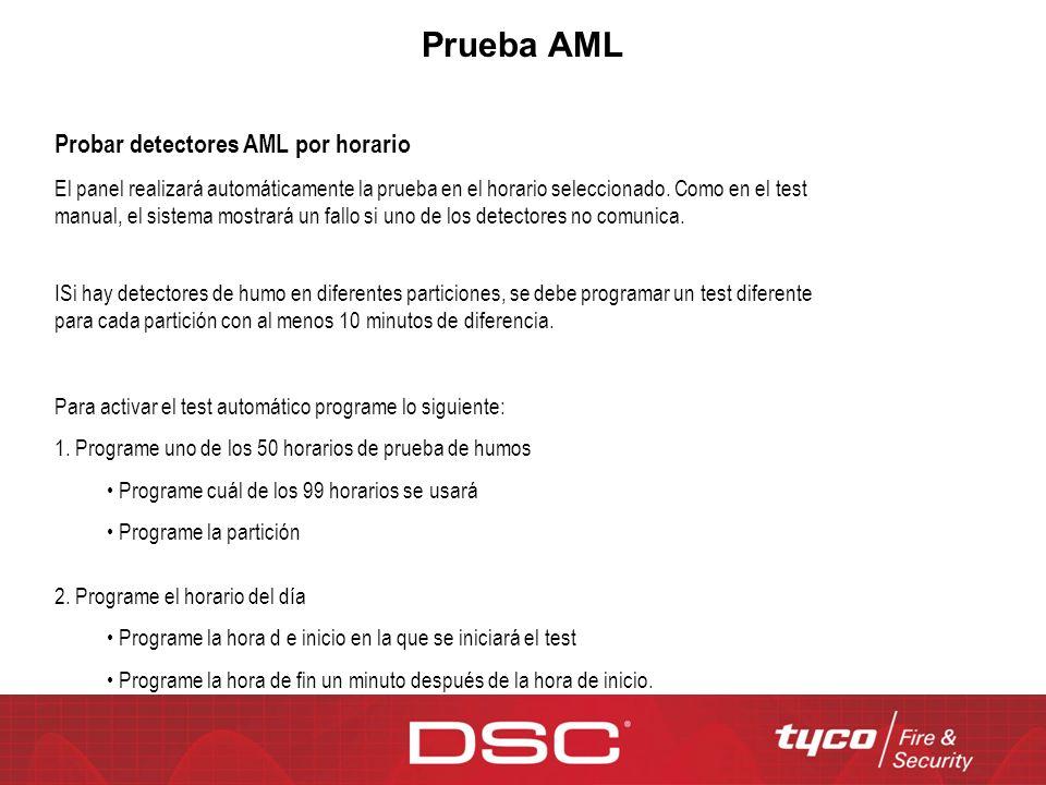 Prueba AML Probar detectores AML por horario