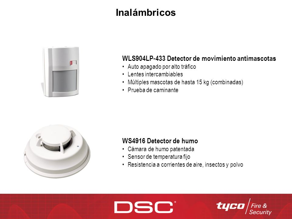 Inalámbricos WLS904LP-433 Detector de movimiento antimascotas