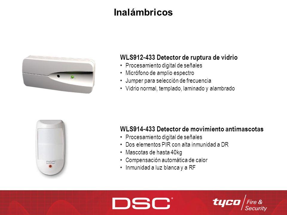 Inalámbricos WLS912-433 Detector de ruptura de vidrio
