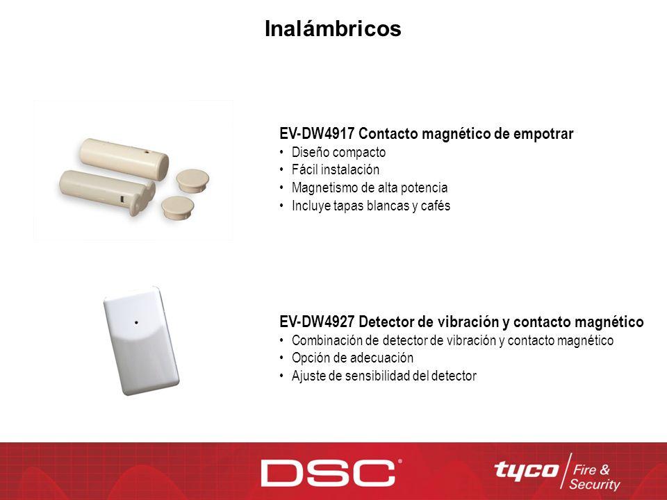 Inalámbricos EV-DW4917 Contacto magnético de empotrar