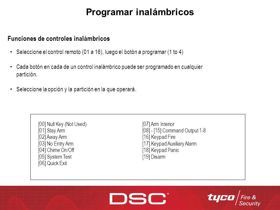 Programar inalámbricos