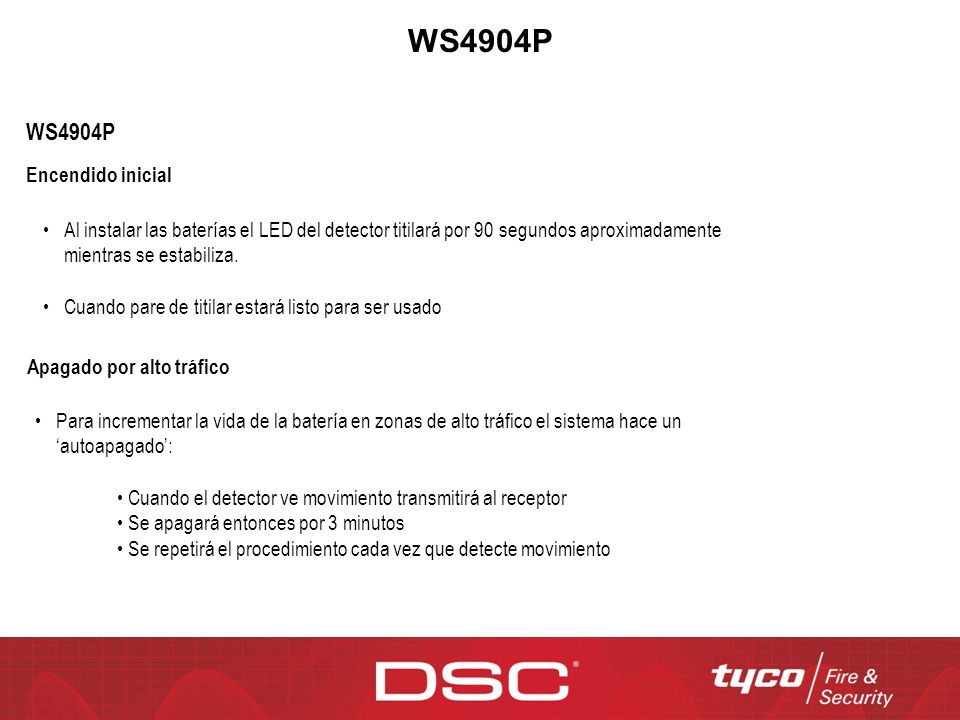 WS4904P WS4904P Encendido inicial
