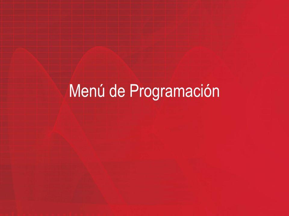 Menú de Programación