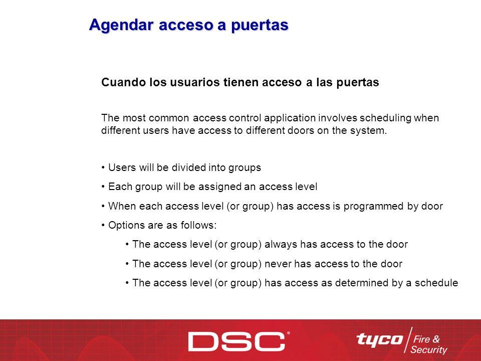 Agendar acceso a puertas