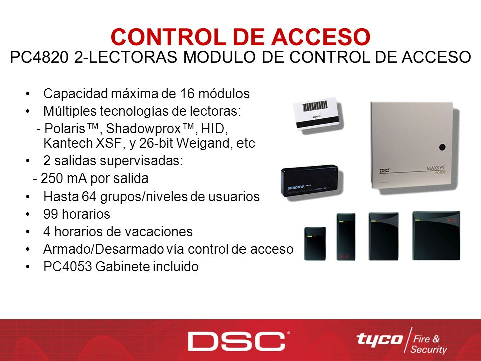 PC4820 2-LECTORAS MODULO DE CONTROL DE ACCESO
