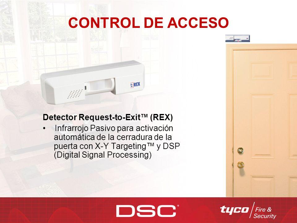 CONTROL DE ACCESO Detector Request-to-Exit™ (REX)