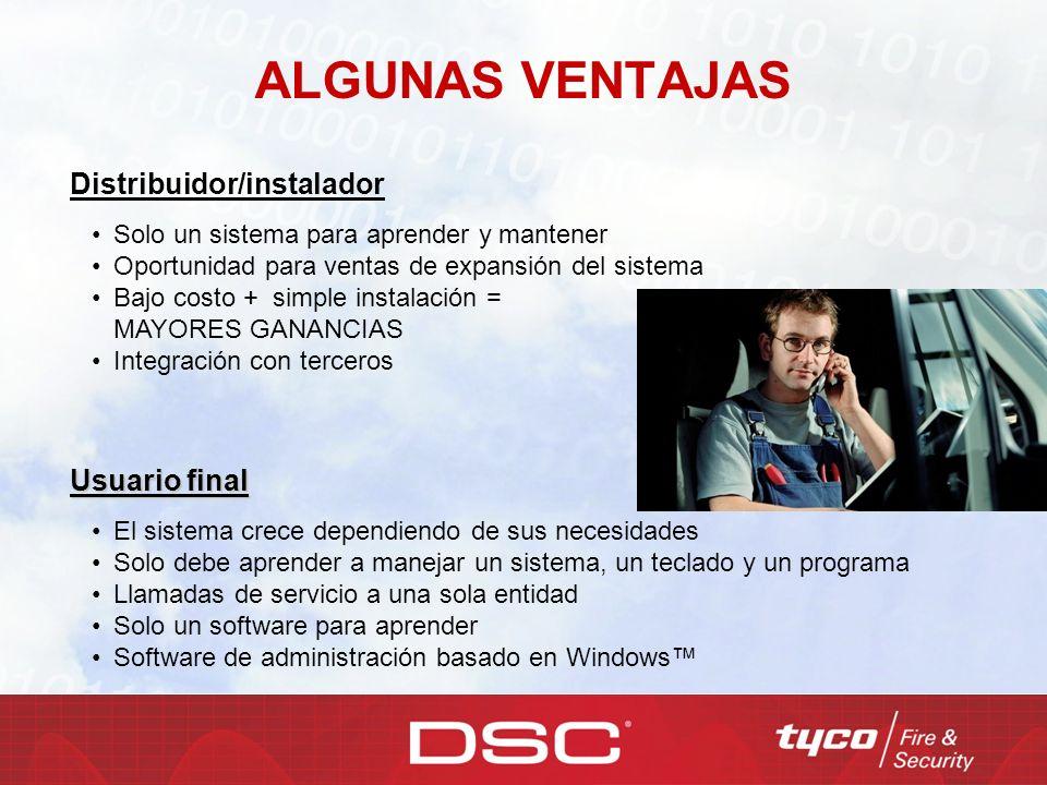 ALGUNAS VENTAJAS Distribuidor/instalador Usuario final