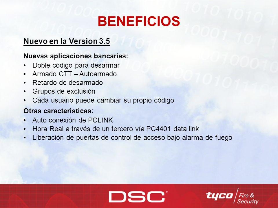 BENEFICIOS Nuevo en la Version 3.5 Nuevas aplicaciones bancarias: