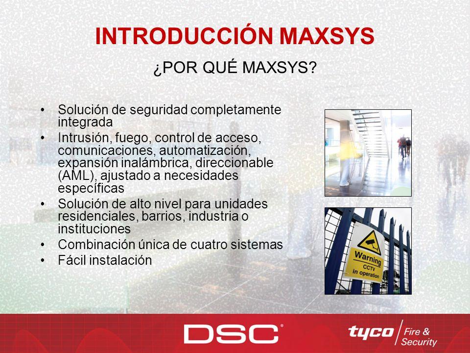 INTRODUCCIÓN MAXSYS ¿POR QUÉ MAXSYS