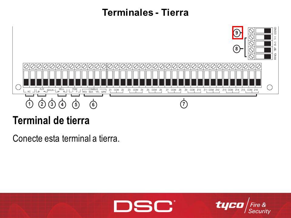 Terminales - Tierra Terminal de tierra Conecte esta terminal a tierra.