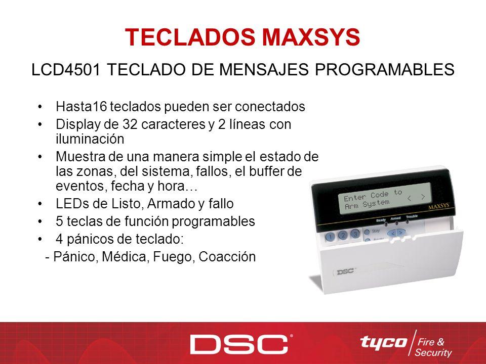 LCD4501 TECLADO DE MENSAJES PROGRAMABLES