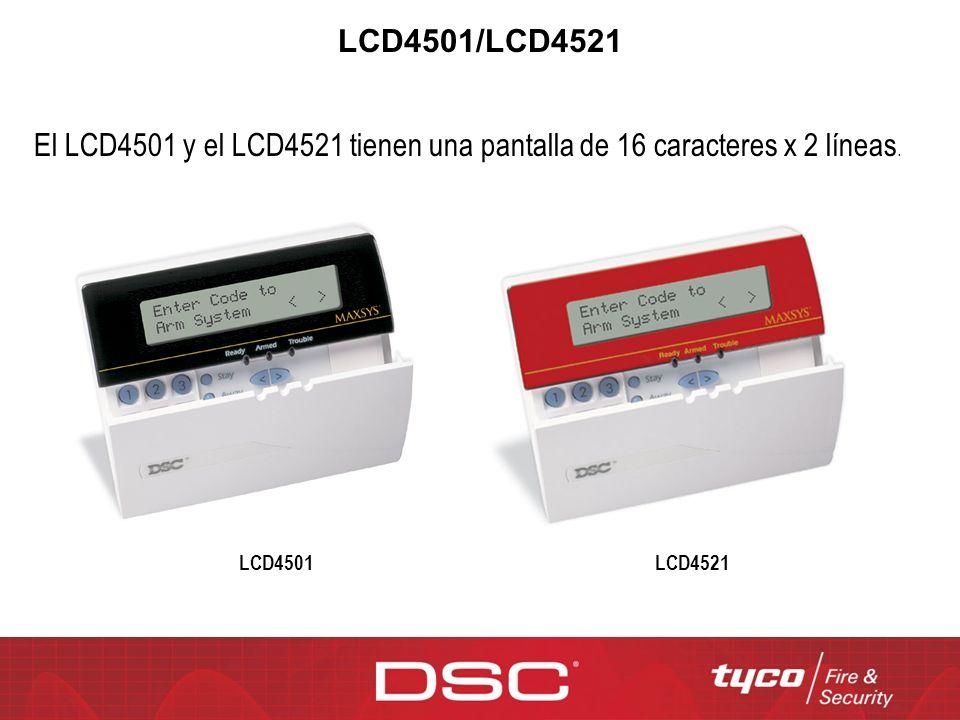LCD4501/LCD4521 El LCD4501 y el LCD4521 tienen una pantalla de 16 caracteres x 2 líneas.