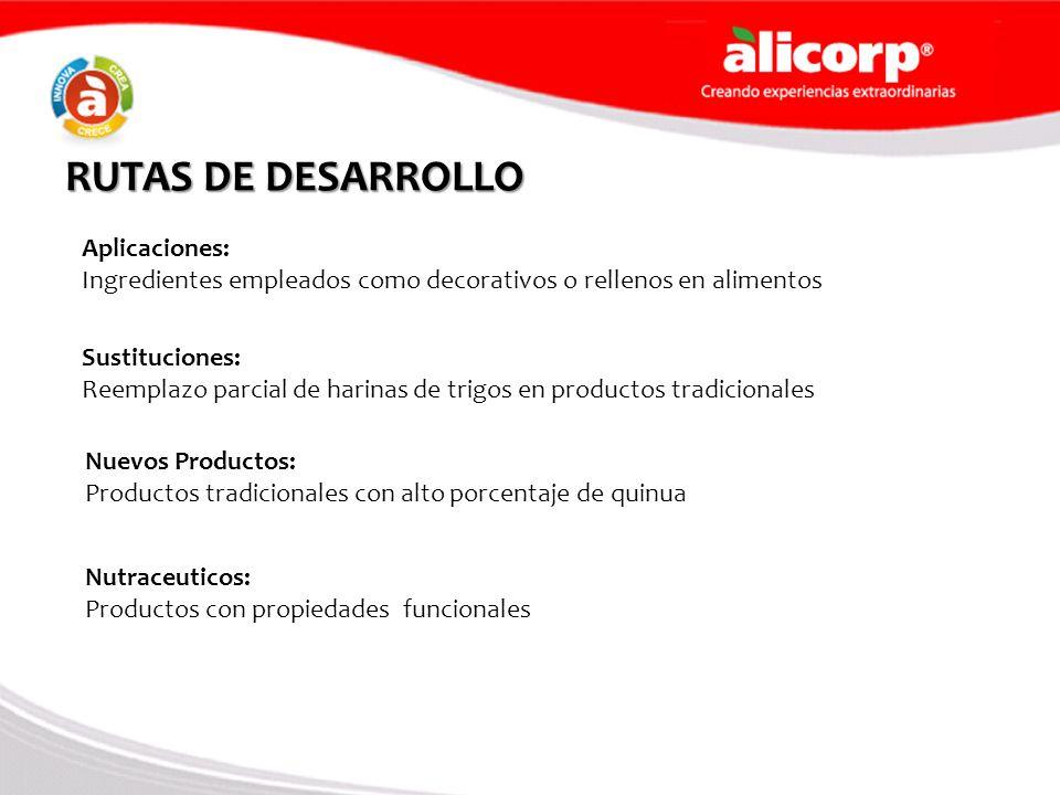 RUTAS DE DESARROLLO Aplicaciones: