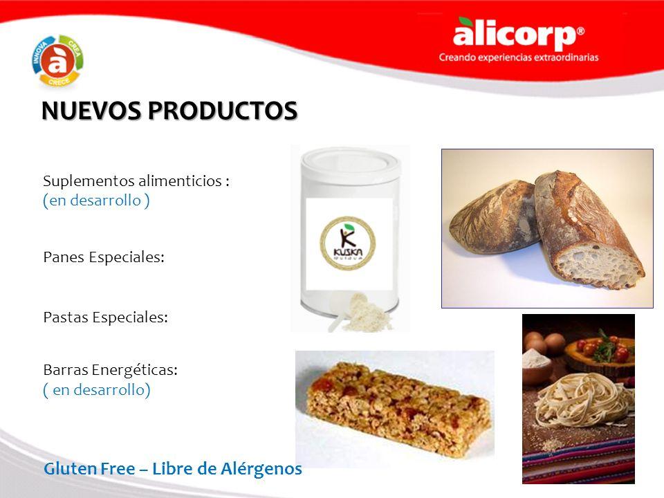NUEVOS PRODUCTOS Gluten Free – Libre de Alérgenos