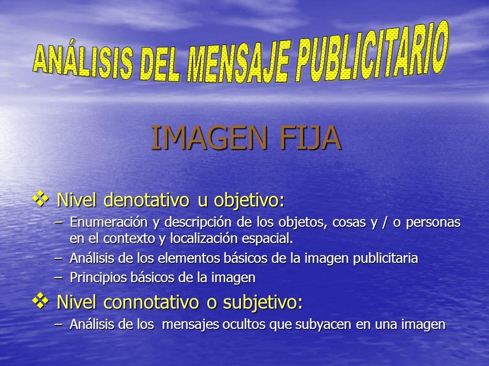 ANÁLISIS DEL MENSAJE PUBLICITARIO