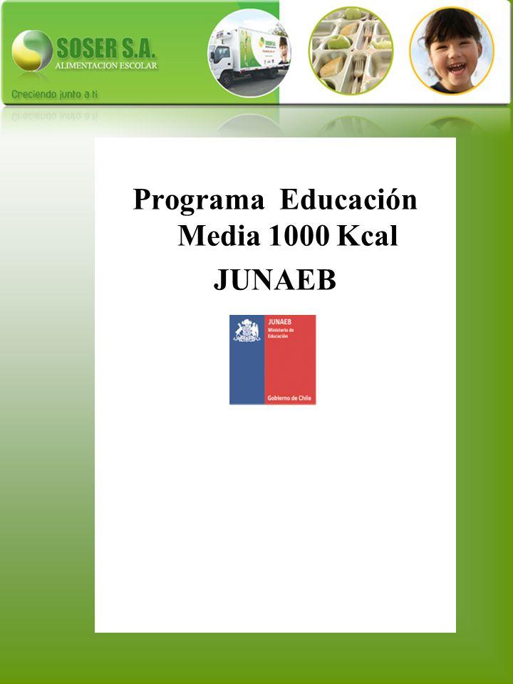 Programa Educación Media 1000 Kcal