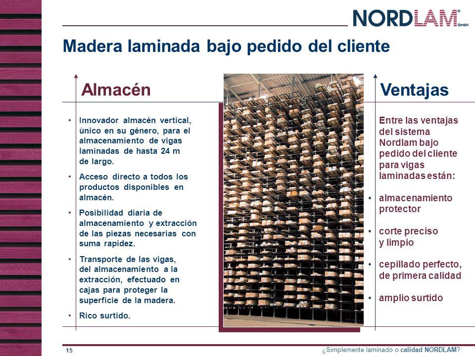 Madera laminada bajo pedido del cliente