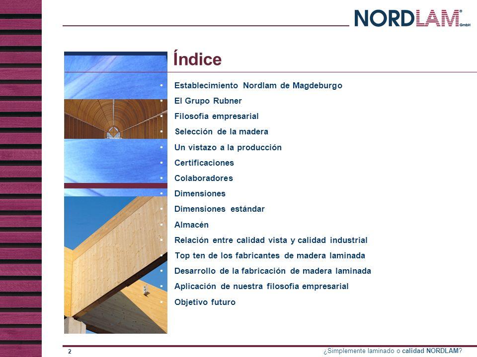 Índice Establecimiento Nordlam de Magdeburgo El Grupo Rubner