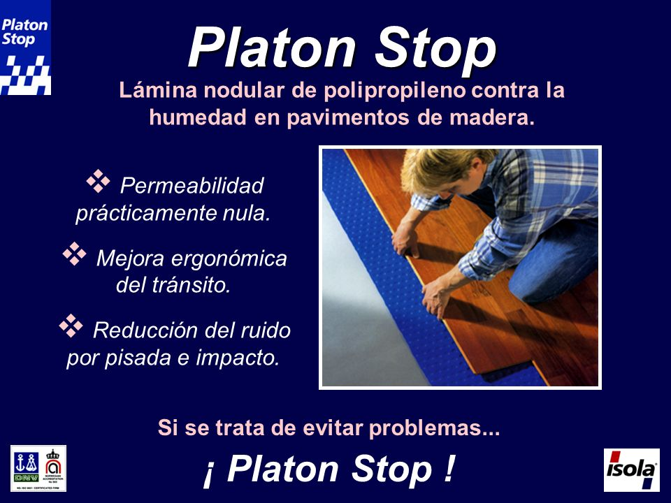 Platon Stop ¡ Platon Stop ! Lámina nodular de polipropileno contra la