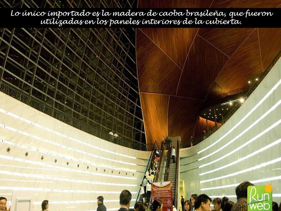 Lo único importado es la madera de caoba brasileña, que fueron utilizadas en los paneles interiores de la cubierta.