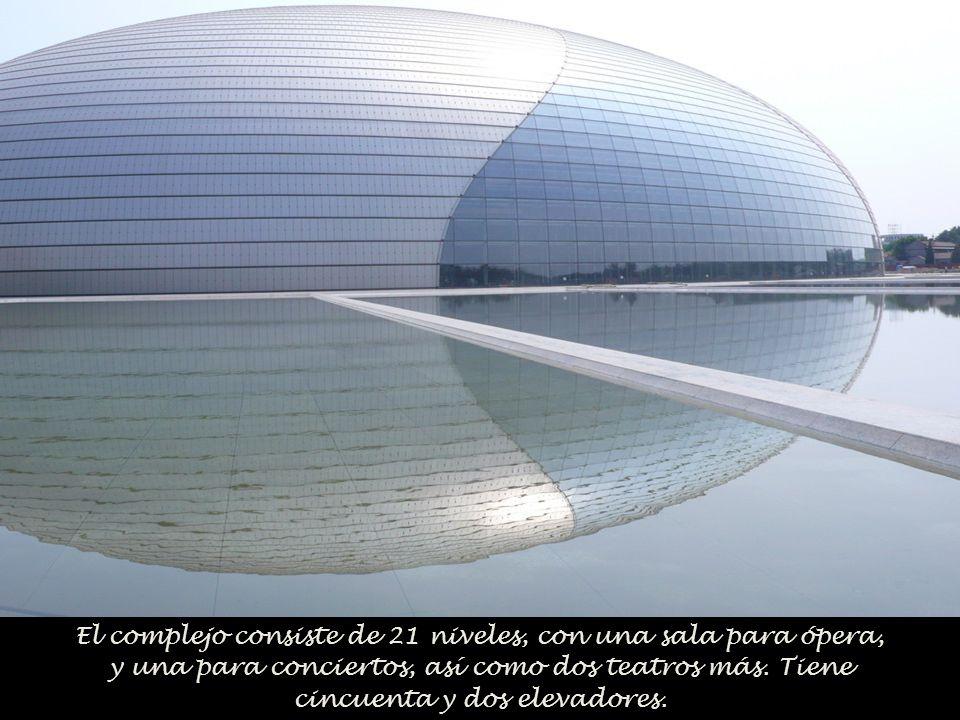 El complejo consiste de 21 niveles, con una sala para ópera, y una para conciertos, así como dos teatros más.