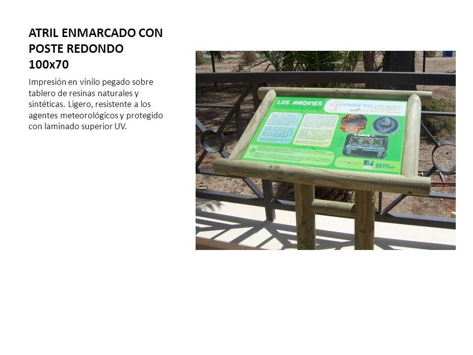 ATRIL ENMARCADO CON POSTE REDONDO 100x70