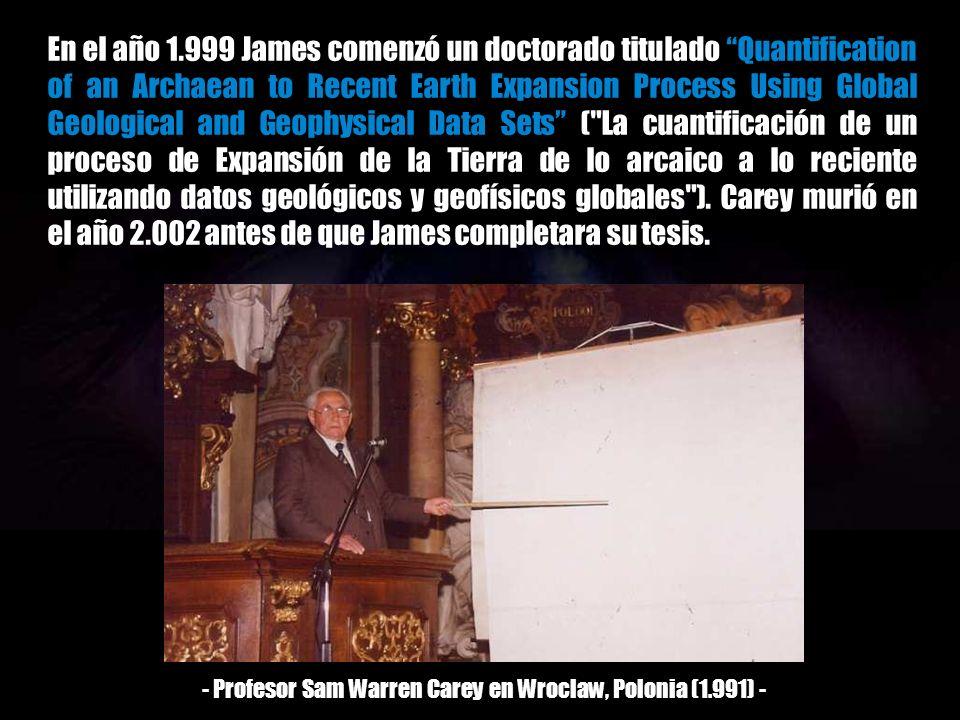 - Profesor Sam Warren Carey en Wroclaw, Polonia (1.991) -