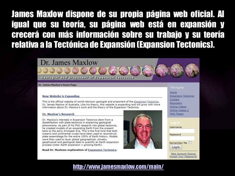 James Maxlow dispone de su propia página web oficial