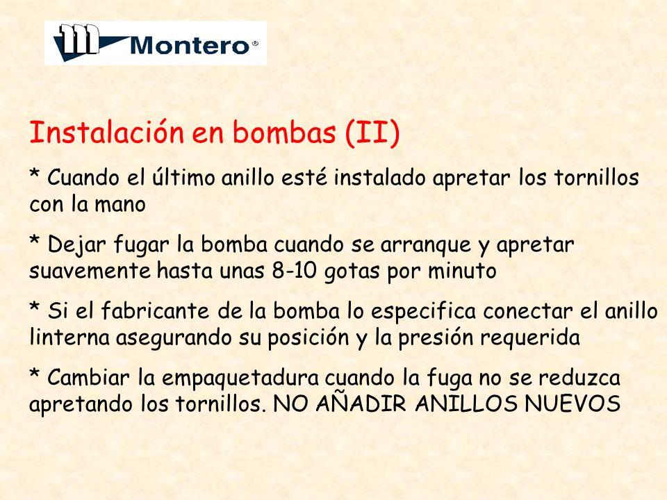 Instalación en bombas (II)