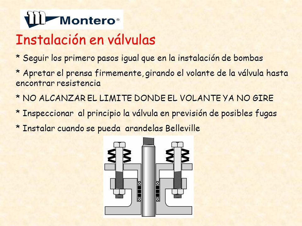 Instalación en válvulas