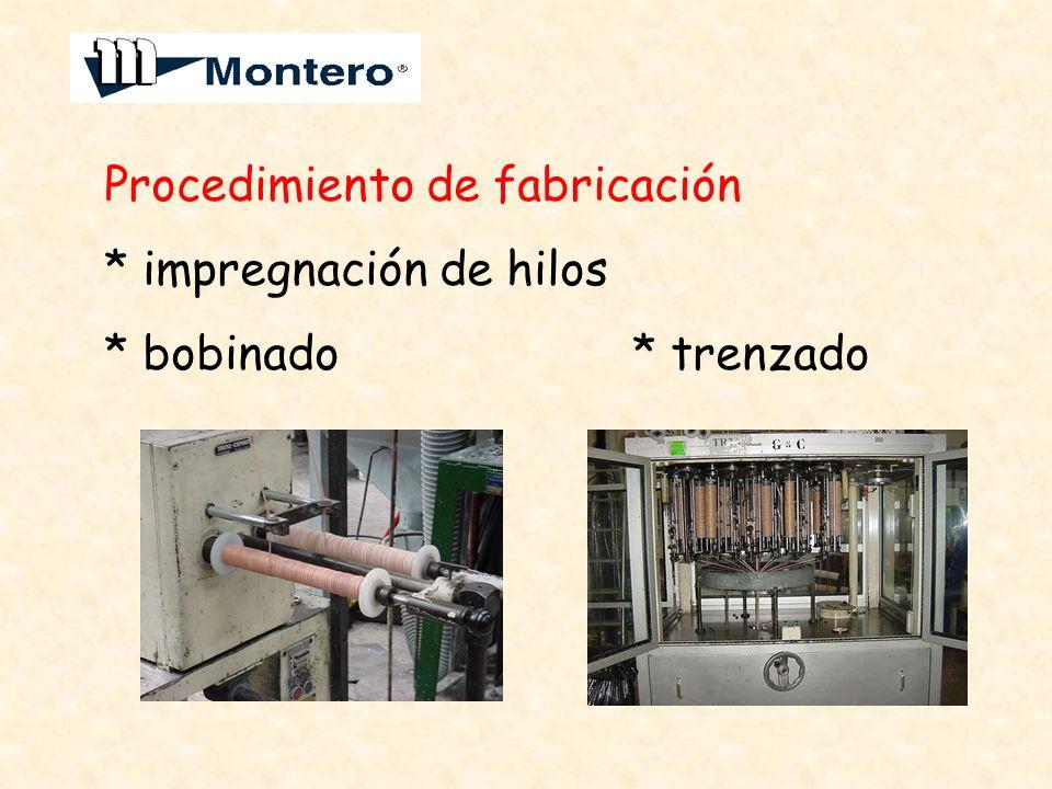 Procedimiento de fabricación * impregnación de hilos