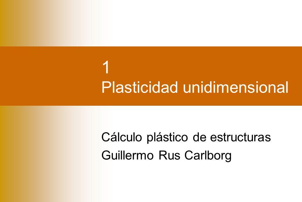 1 Plasticidad unidimensional