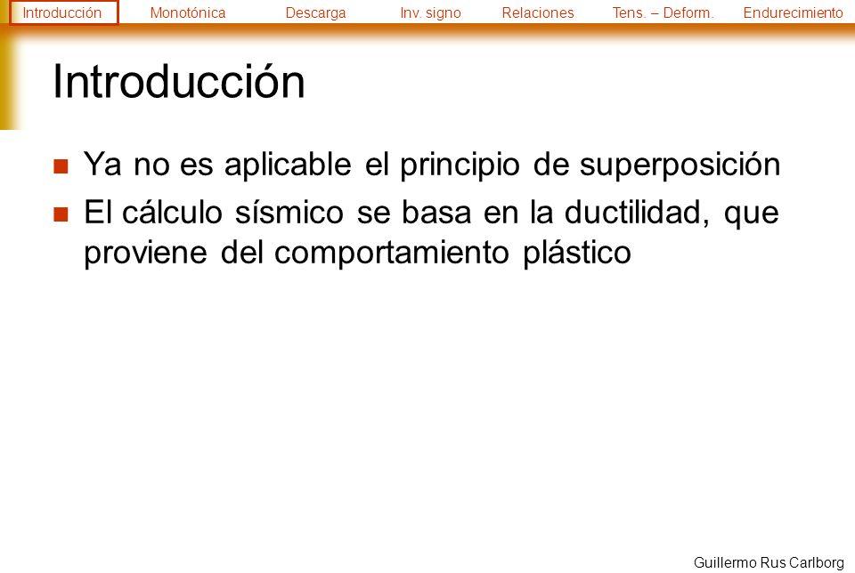 Introducción Ya no es aplicable el principio de superposición