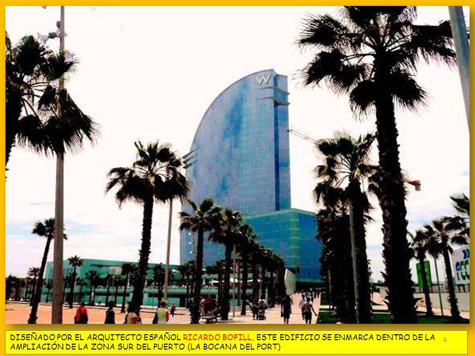 DISEÑADO POR EL ARQUITECTO ESPAÑOL RICARDO BOFILL, ESTE EDIFICIO SE ENMARCA DENTRO DE LA AMPLIACIÓN DE LA ZONA SUR DEL PUERTO (LA BOCANA DEL PORT)